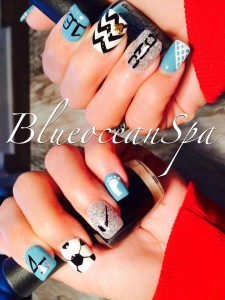 Nail Art - Blue Ocean Spa